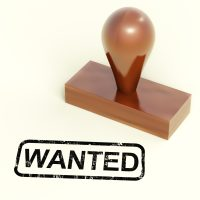 Wanted Rubber Stamp Showing Needed Required Or Seeking