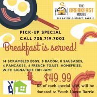 Breakfastis served